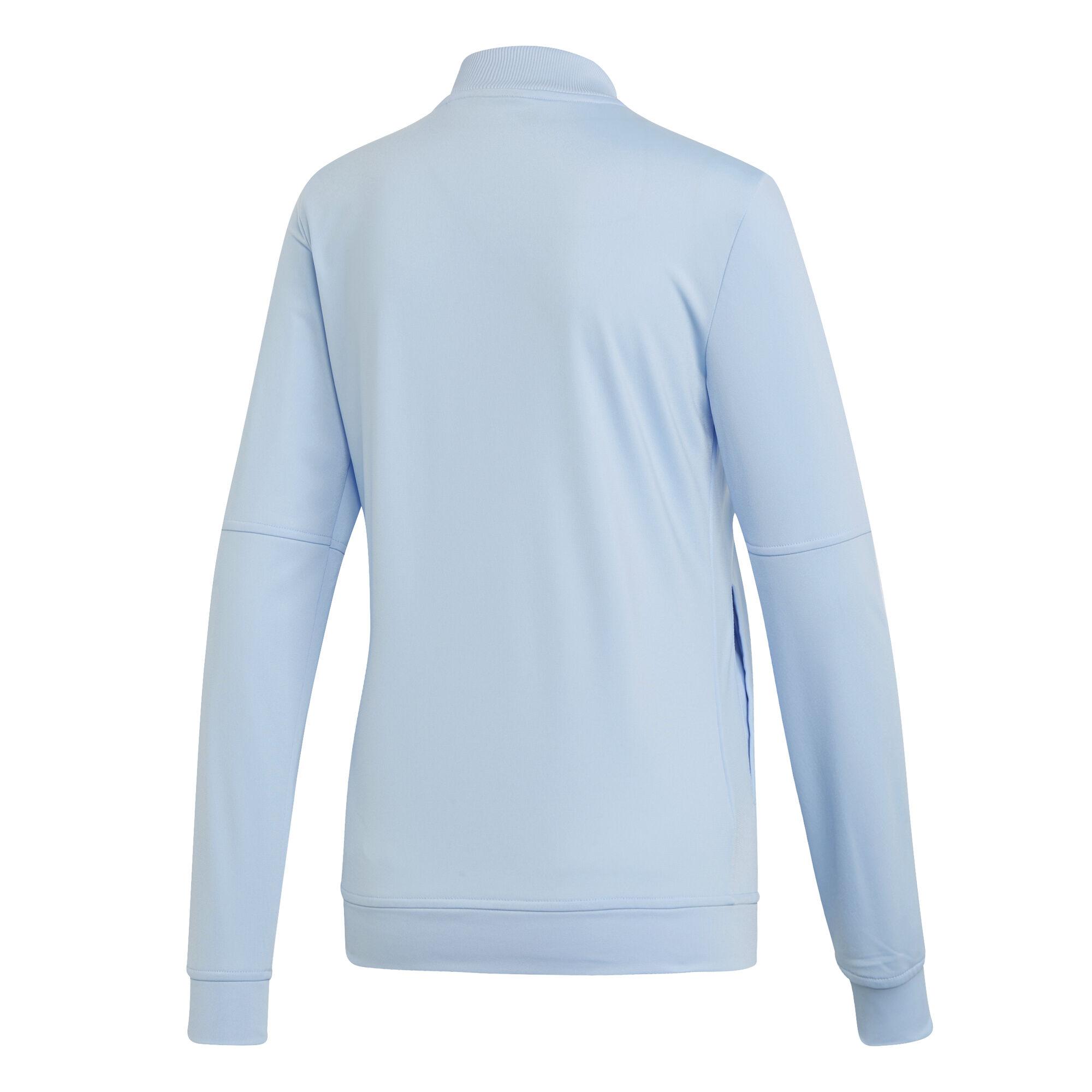 adidas Back2Basic 3 Stripes Trainingsanzug Damen Hellblau