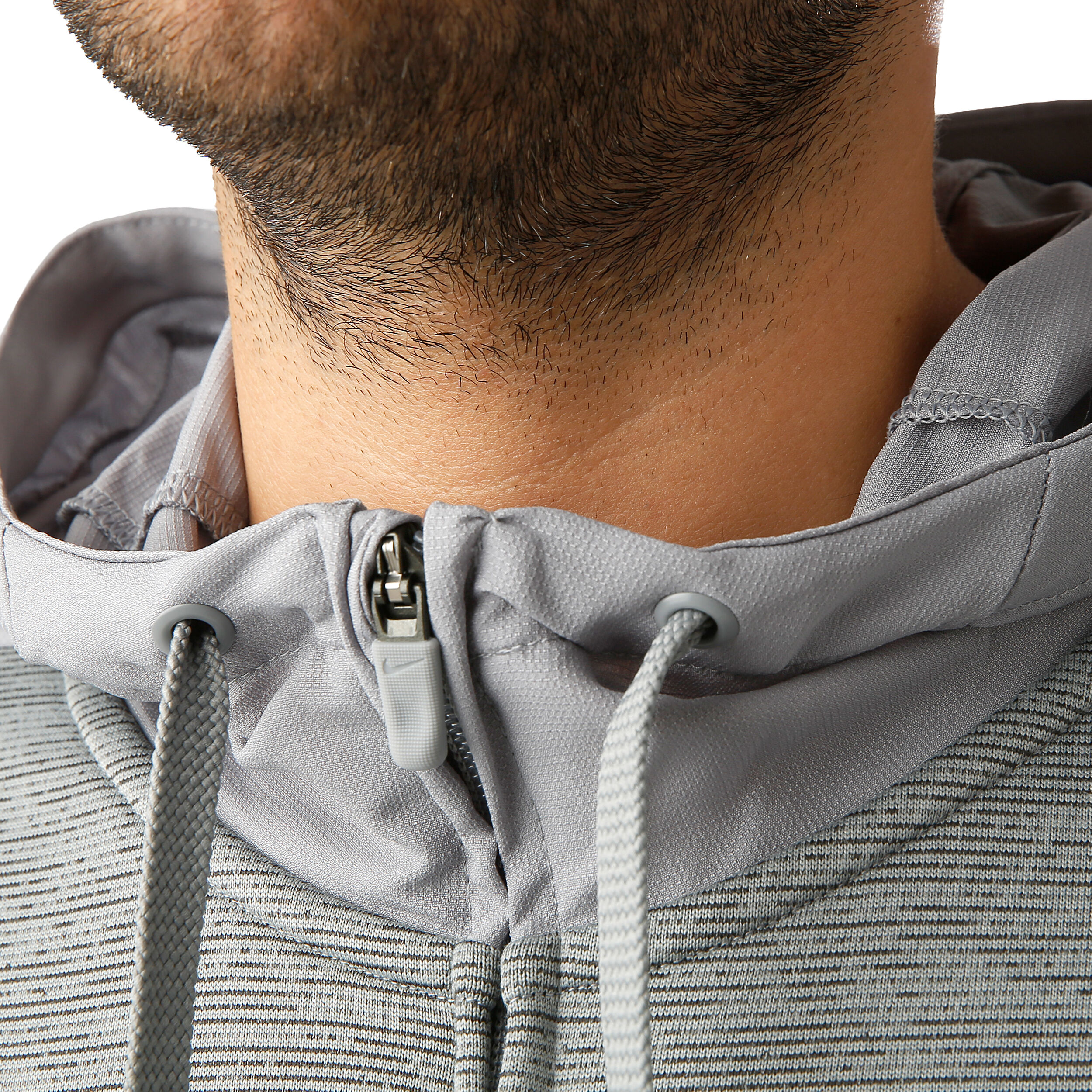 Nike Dri Fit Fleece Full Zip Herren Hellgrau, Grau online