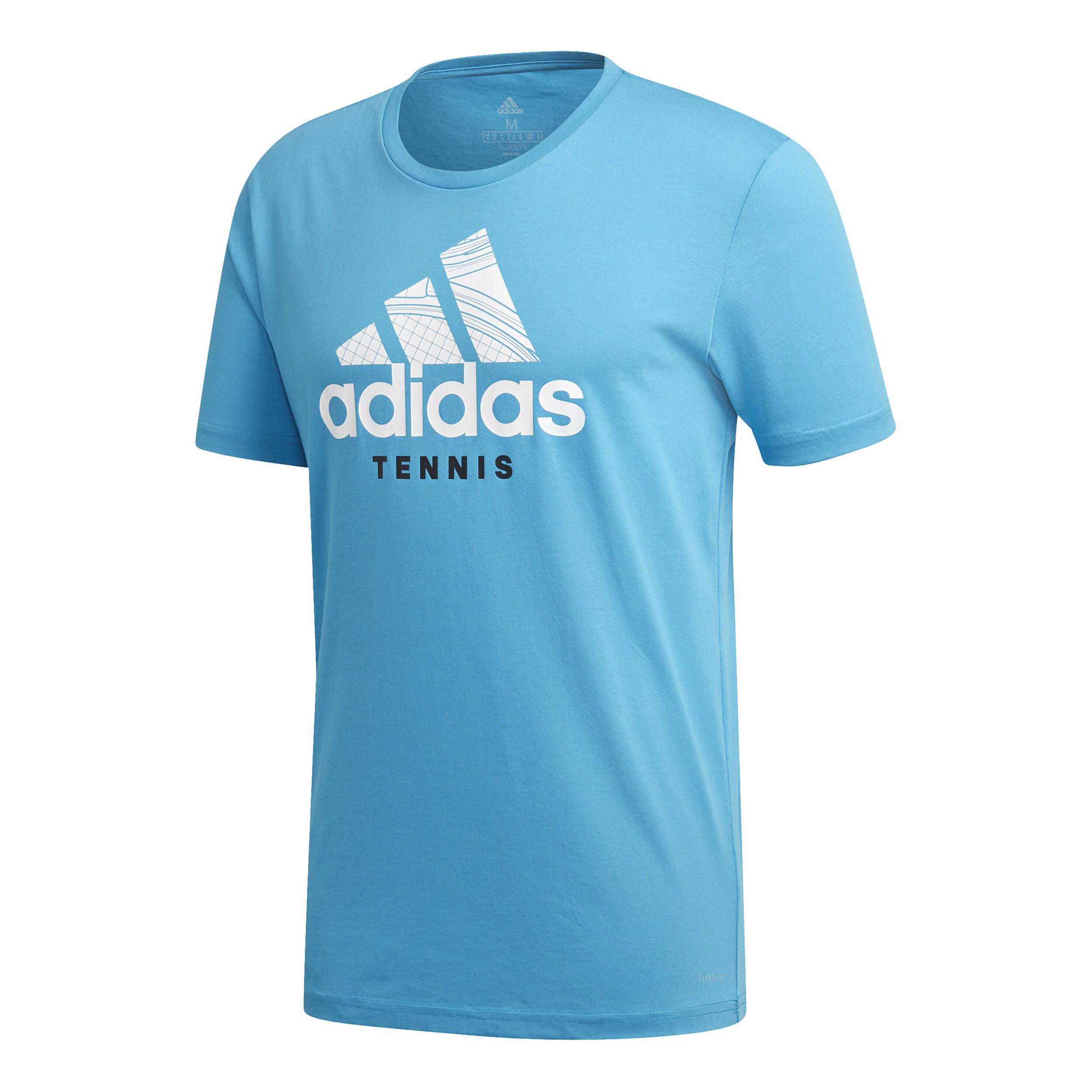 adidas Category Graphic T Shirt Herren Hellblau, Weiß