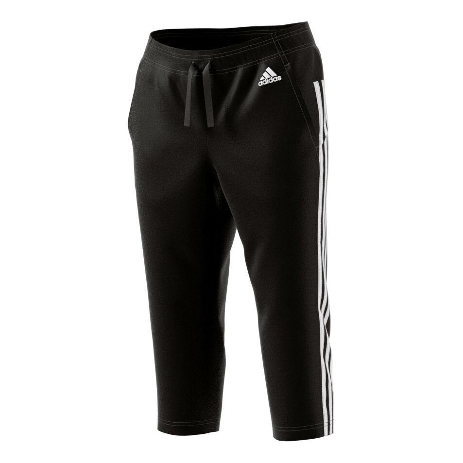 adidas Essentials 3 Stripes Capri-Hose Damen - Schwarz, Weiß ...