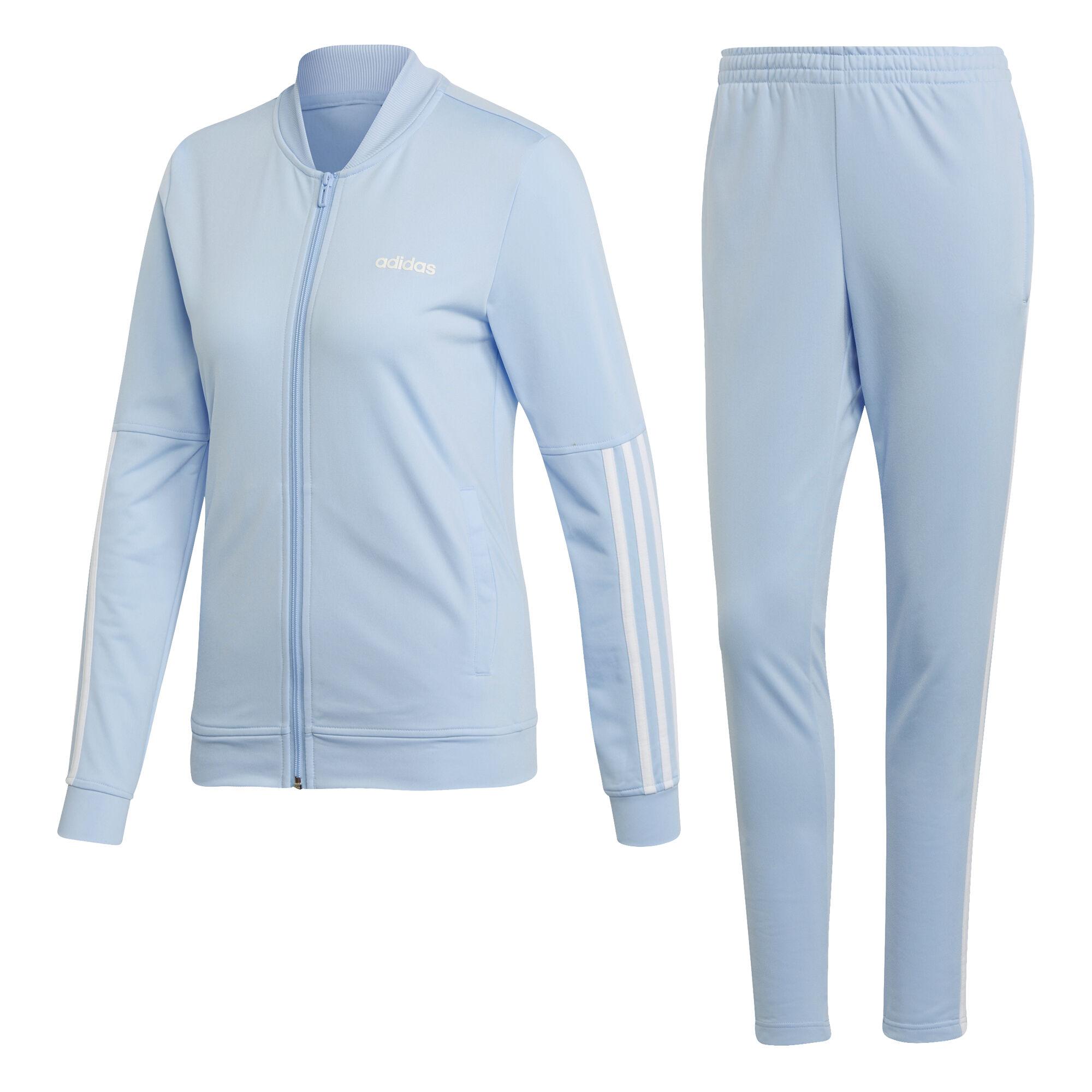 Back2Basic 3 Stripes Trainingsanzug Damen Hellblau, Weiß