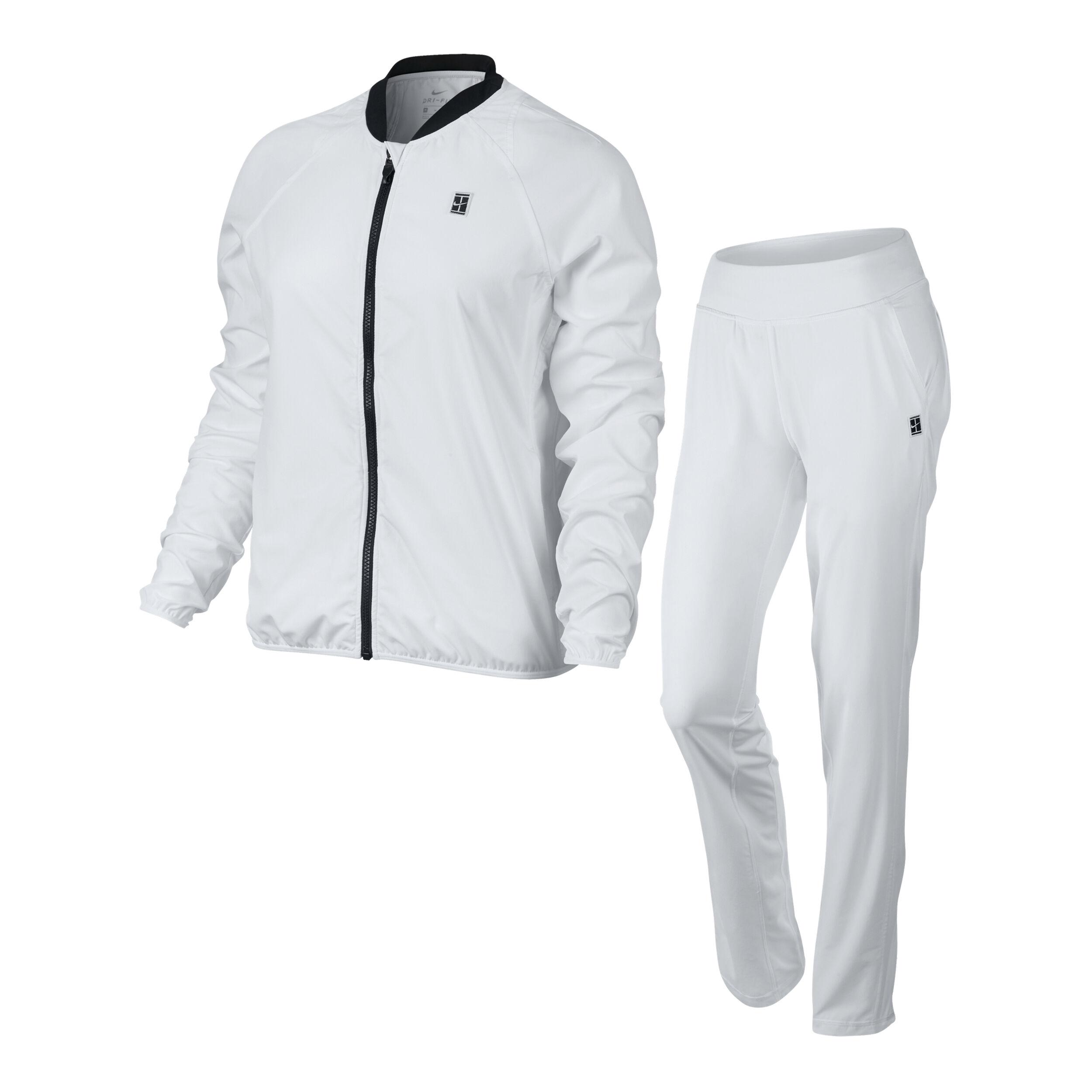 Nike Court Woven Warm Up Trainingsanzug Damen Weiß