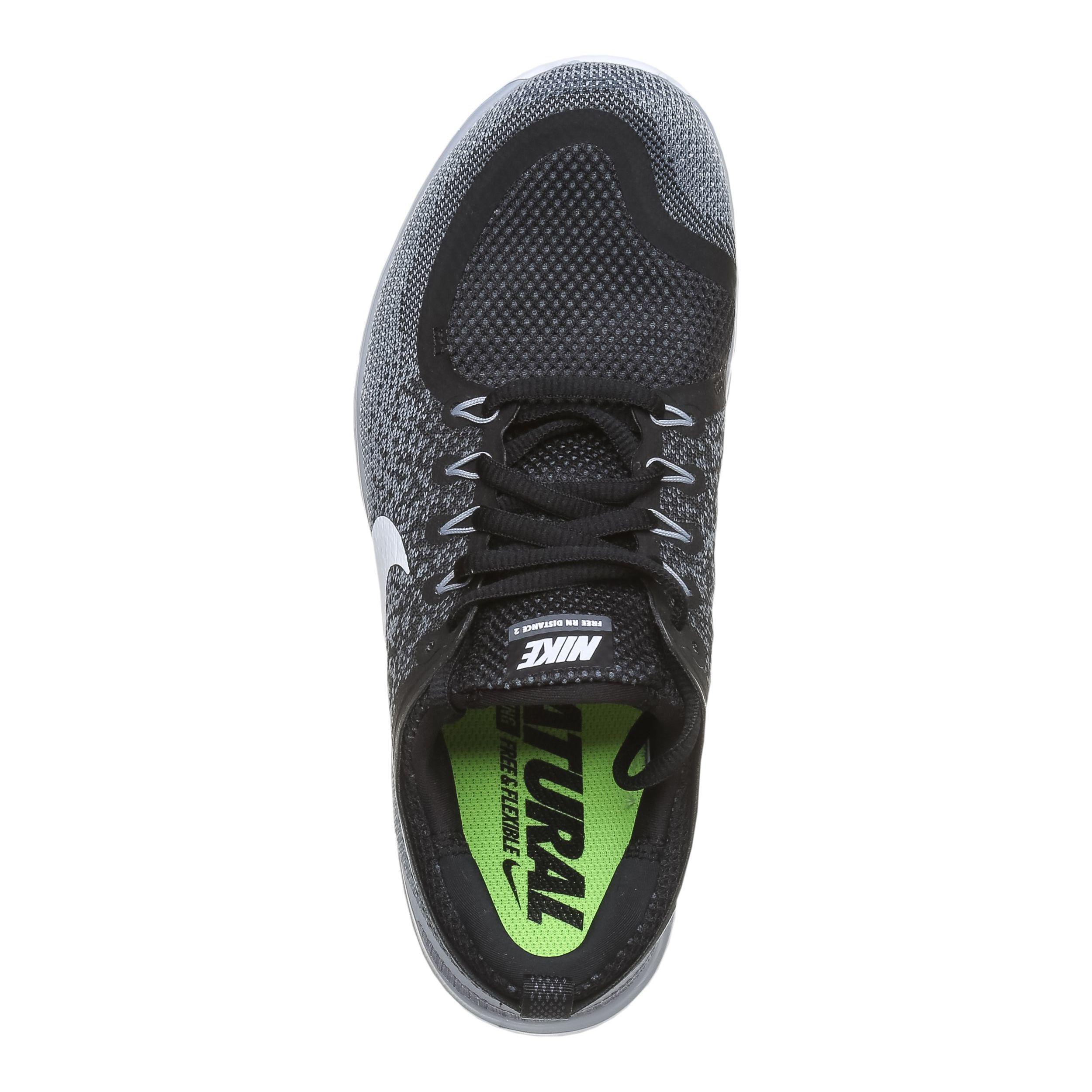 Nike Free Run Distance 2 Fitnessschuh Damen Schwarz, Weiß