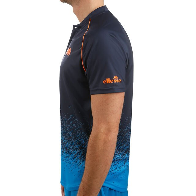 Quadro Printed Poly Polo Men