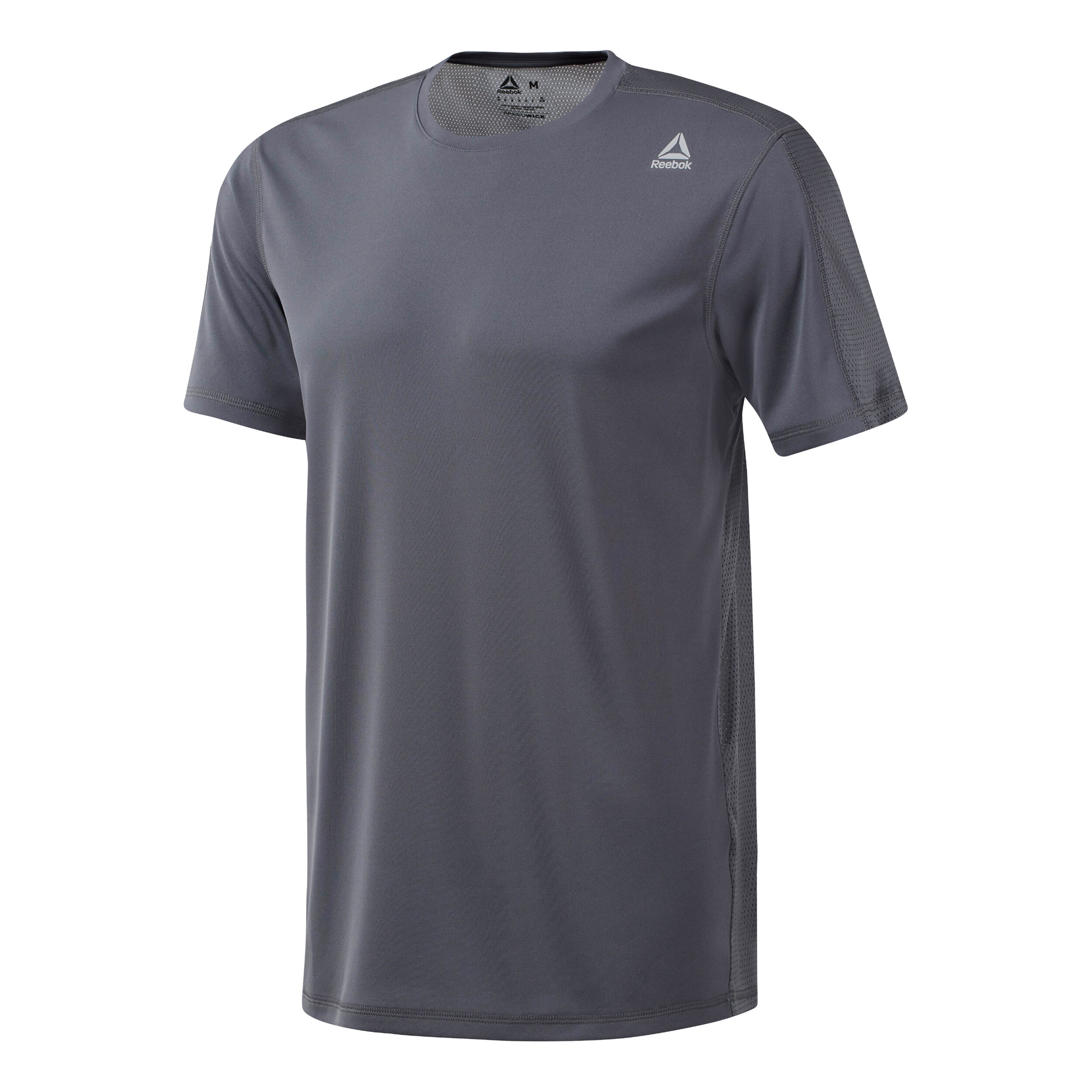 Reebok Workout Regular Tech T Shirt Herren Grau, Schwarz