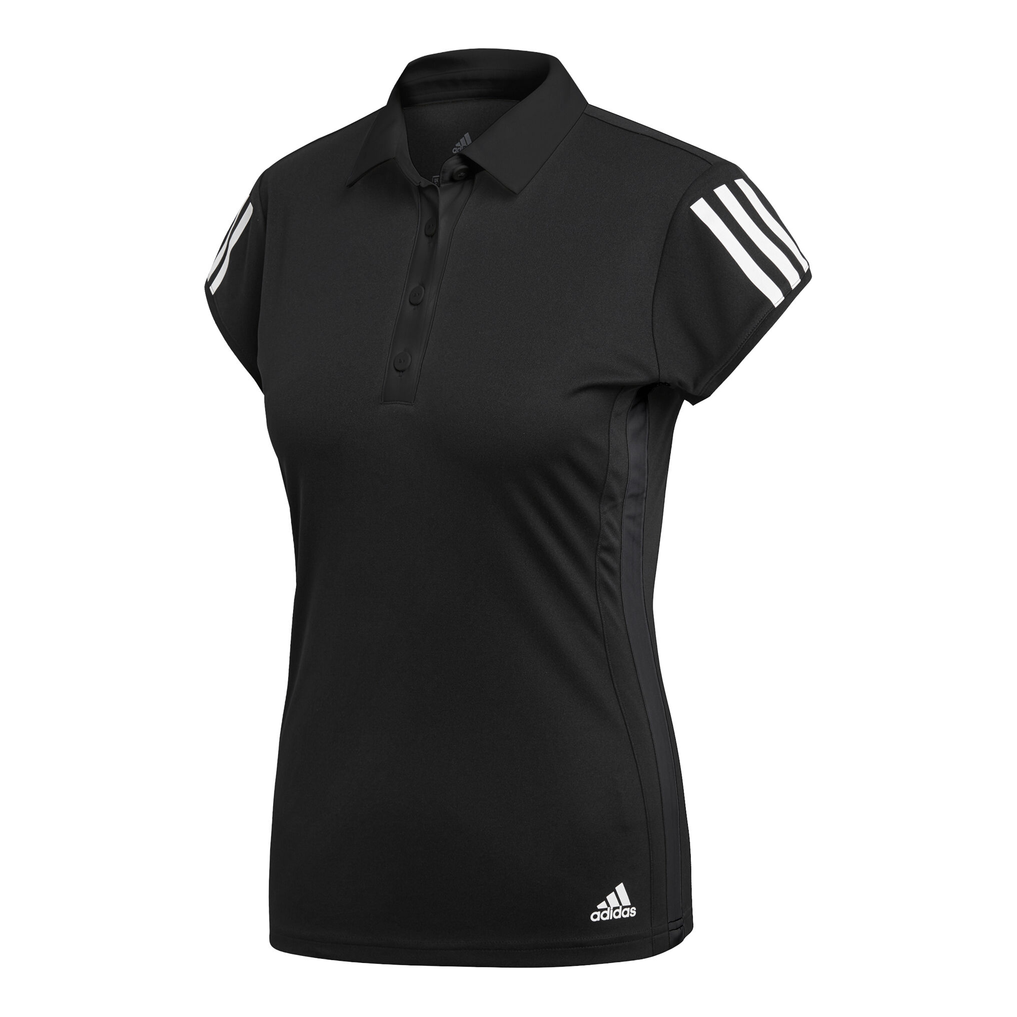 adidas Club 3 Stripes Polo Damen Schwarz, Weiß online