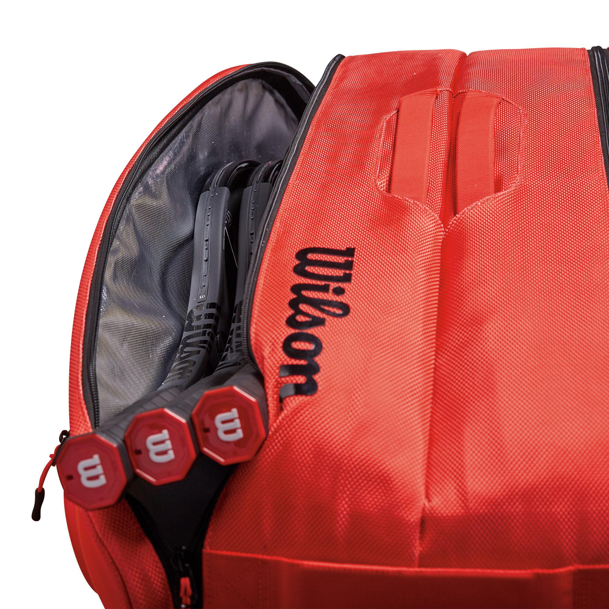 2c6521bf4dc10 Wilson Federer DNA 12 Pack Schlägertasche - Rot