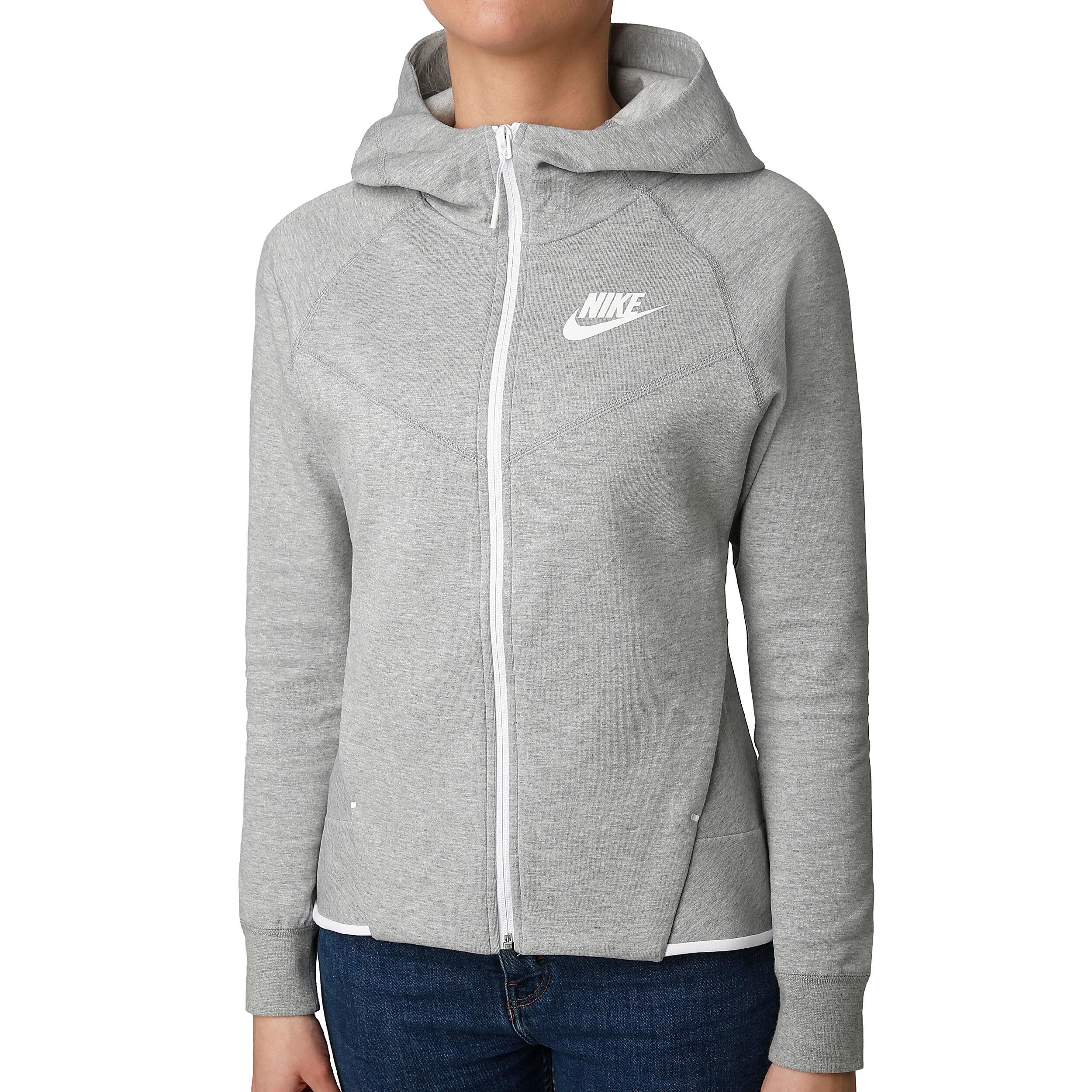 Nike Sportswear Tech Fleece Sweatjacke Damen Grau, Weiß