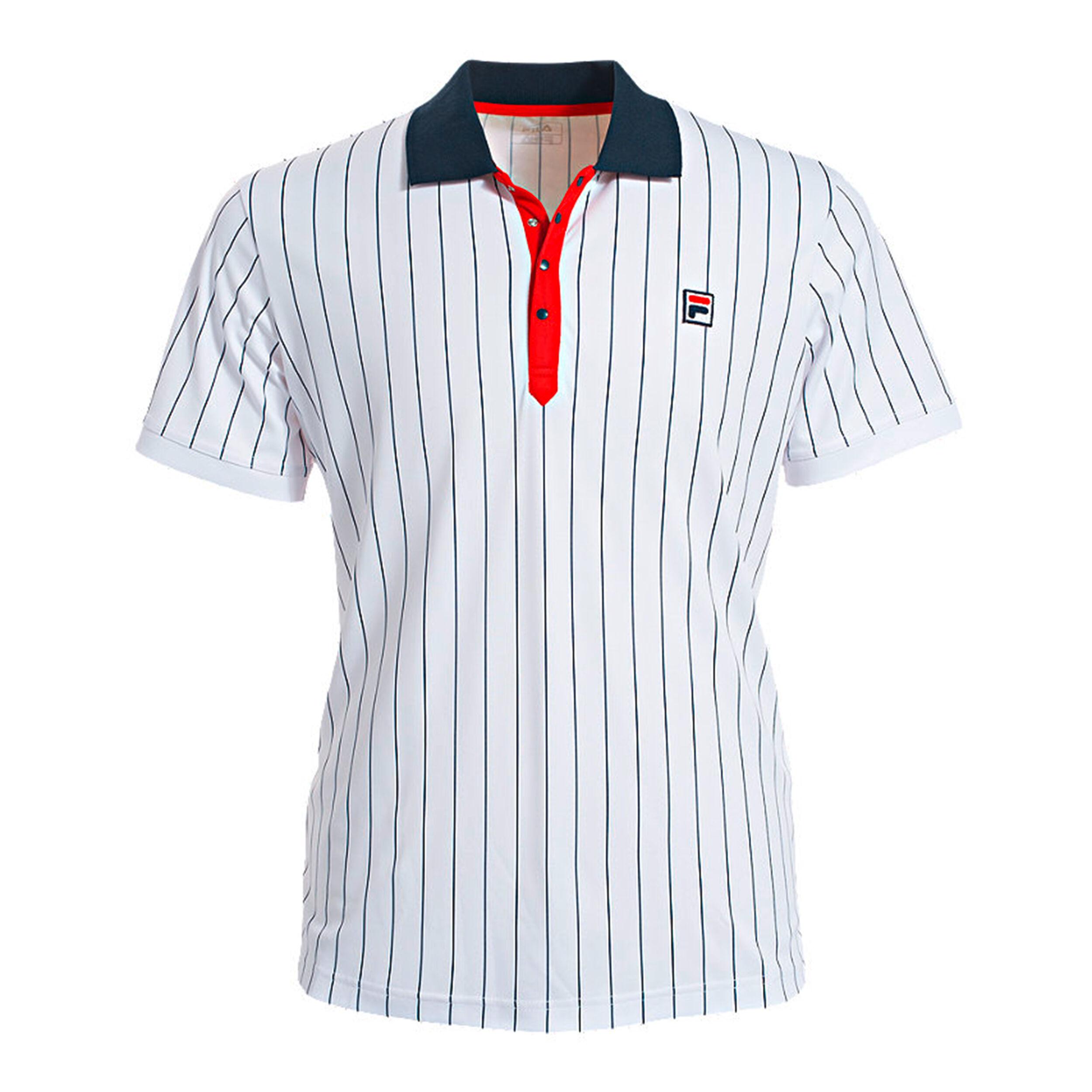 Stripes Polo Herren Weiß, Dunkelblau
