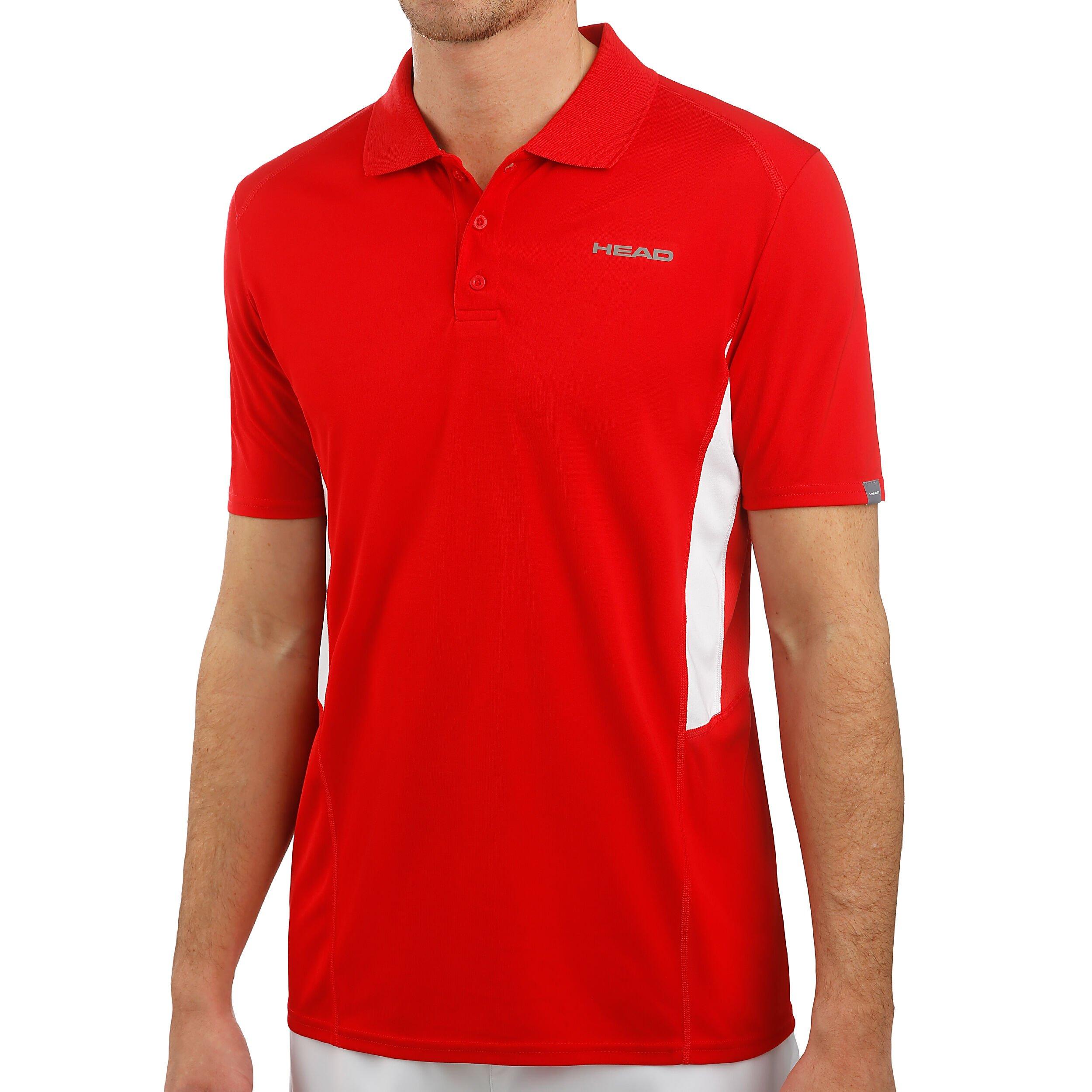Asics Club Polo Herren Rot, Weiß online kaufen | Tennis Peters