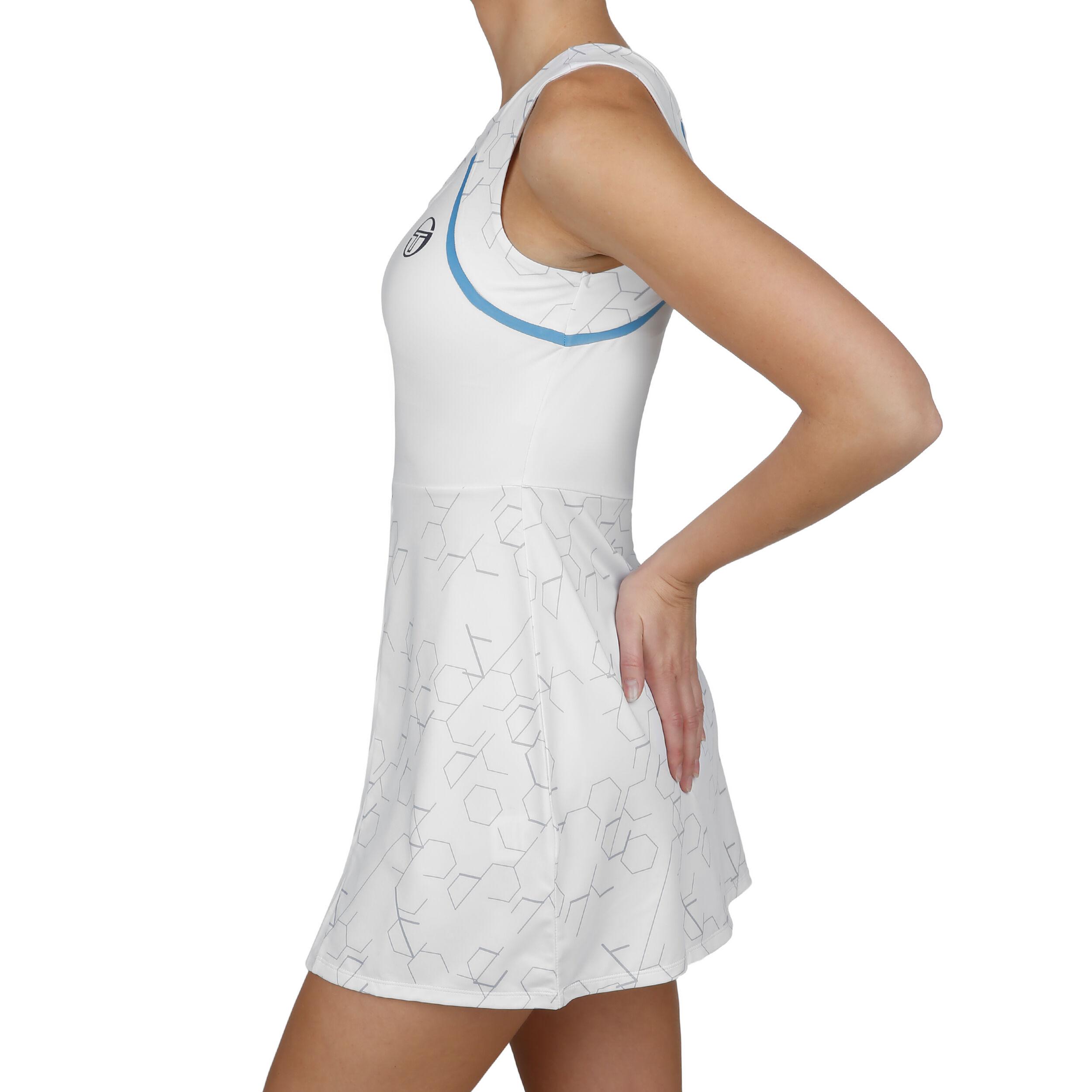 Online Sergio Tacchini Perspective WeißLimette Damen Kleid knO0Pw