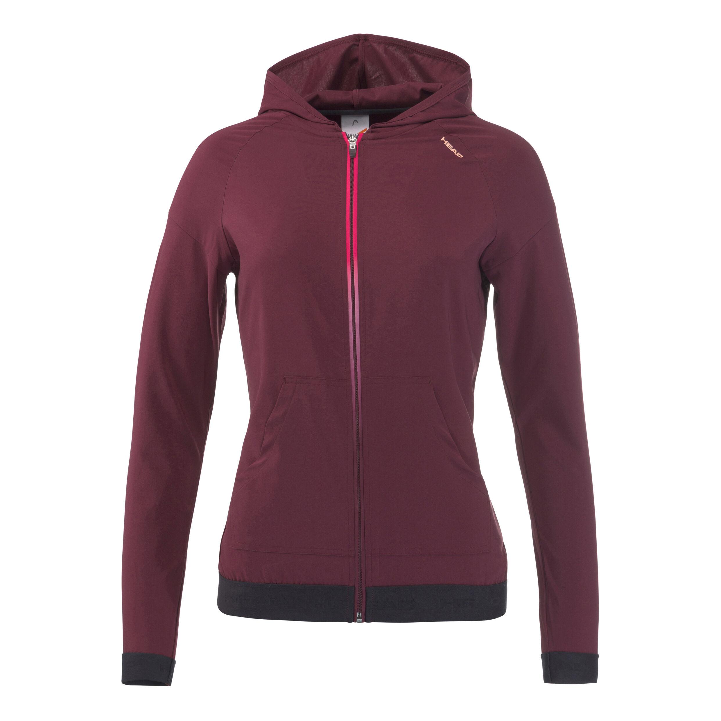 HEAD Damen Rot Vision Tech Trainingsjacke Dunkelrot XL Jacken