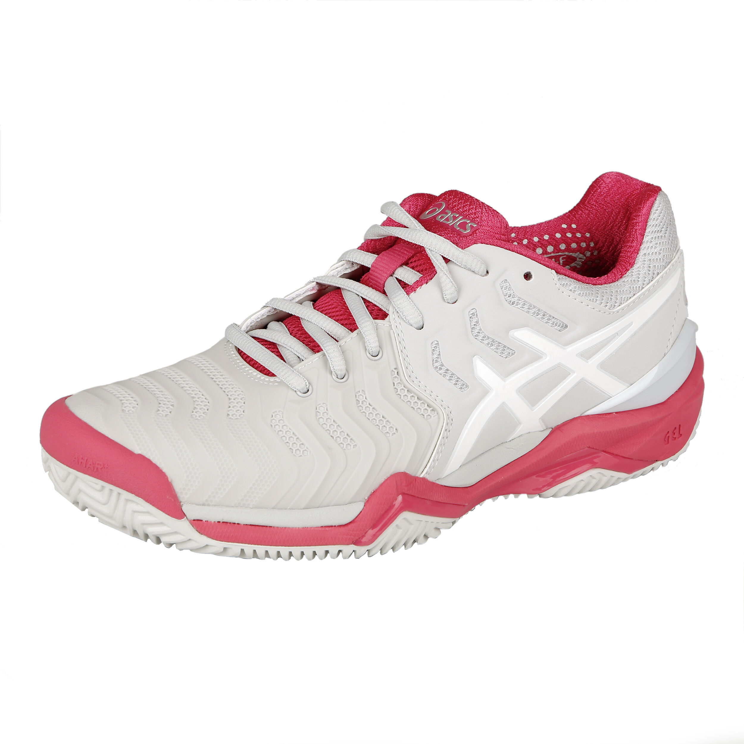 Asics Gel-Resolution 7 Clay Sandplatzschuh Damen - Hellgrau, Hellrot ...