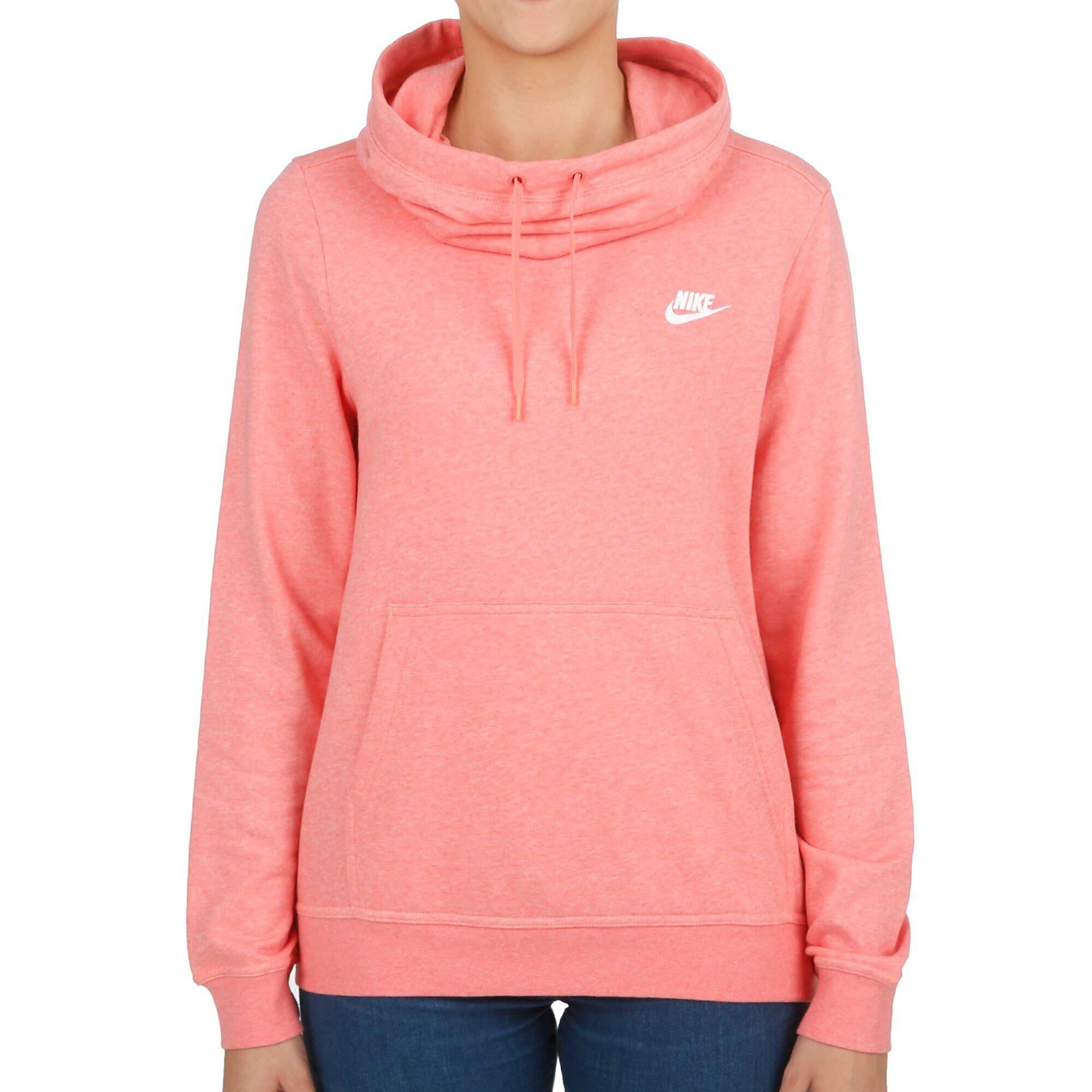 Nike Sportswear Funnel-Neck Hoody Damen - Koralle, Weiß online ... c2789b8cfb