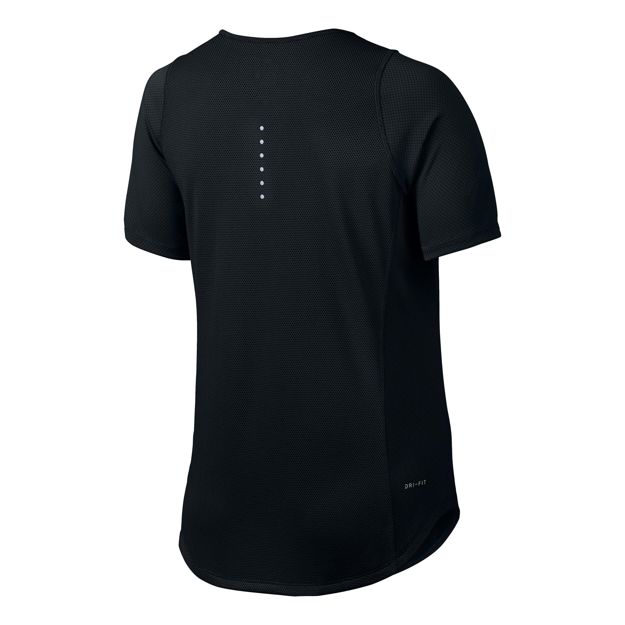 Nike Herren Shirt Dri Fit Tennis Shirt silber