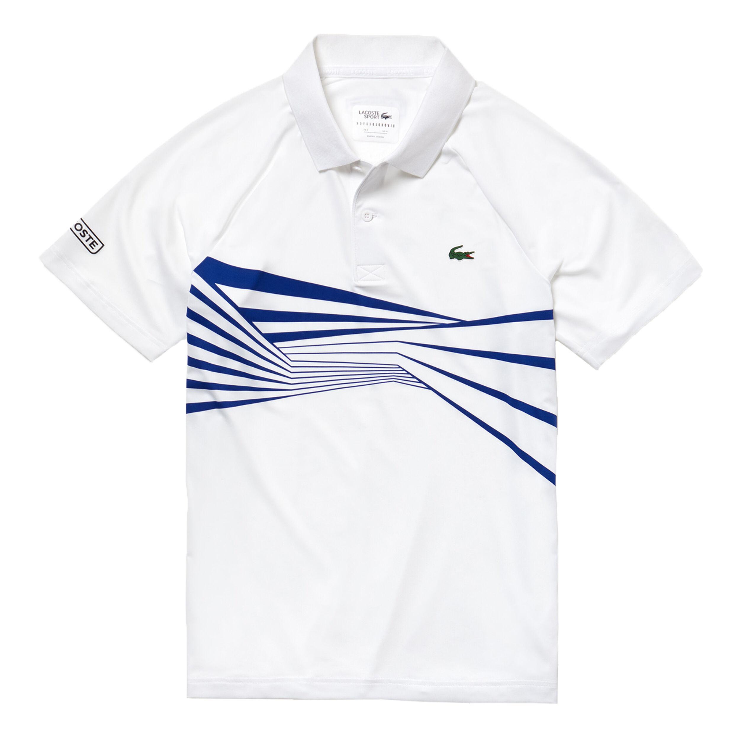 ADIDAS Tennis Poloshirt Herren, weißblau, Größe: M