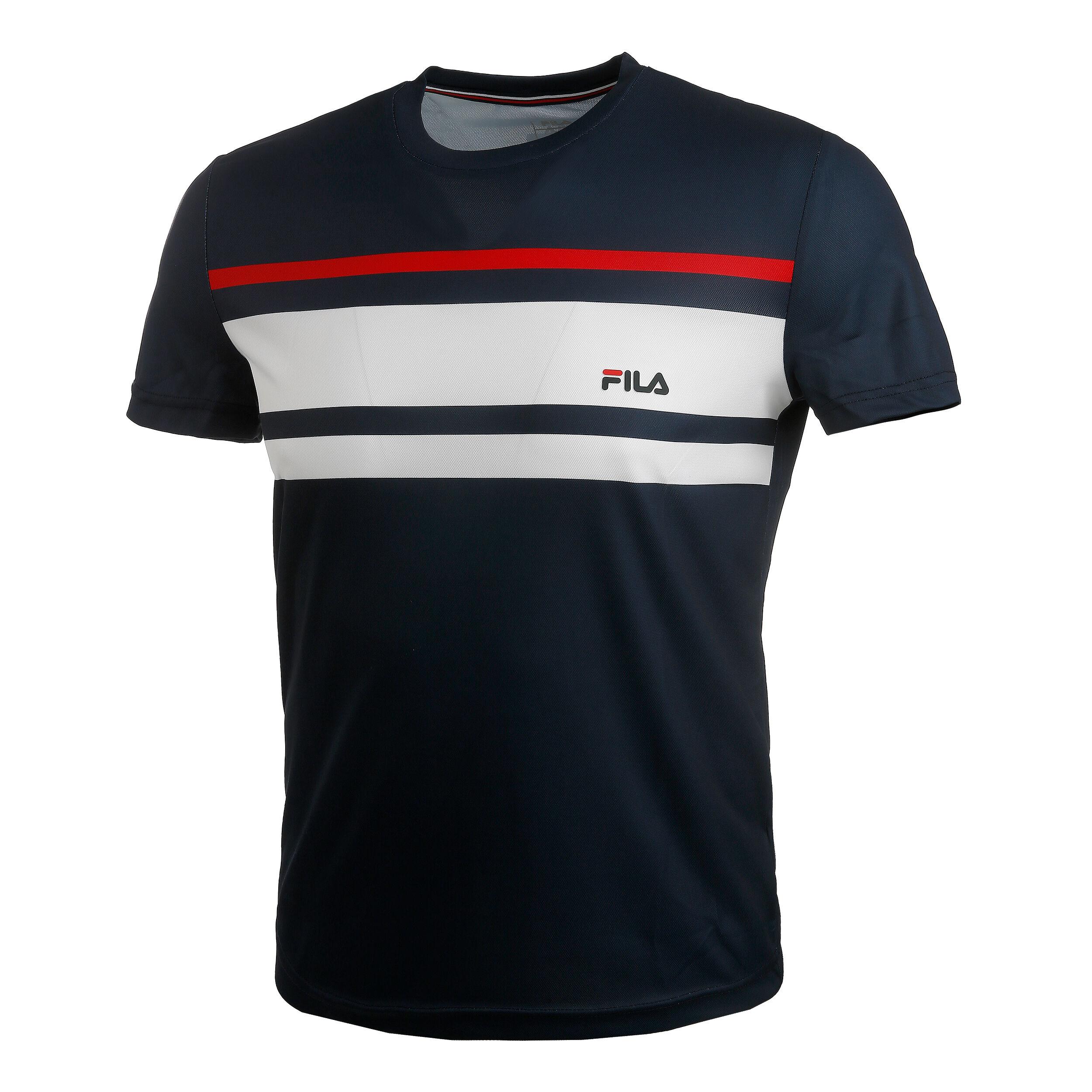 Trey T Shirt Herren Dunkelblau, Weiß