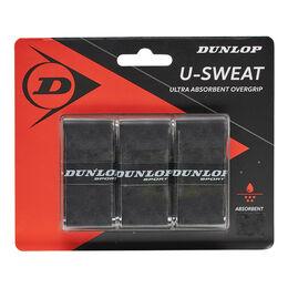 D TAC U-SWEAT OVERGRIP BLACK 3PCS