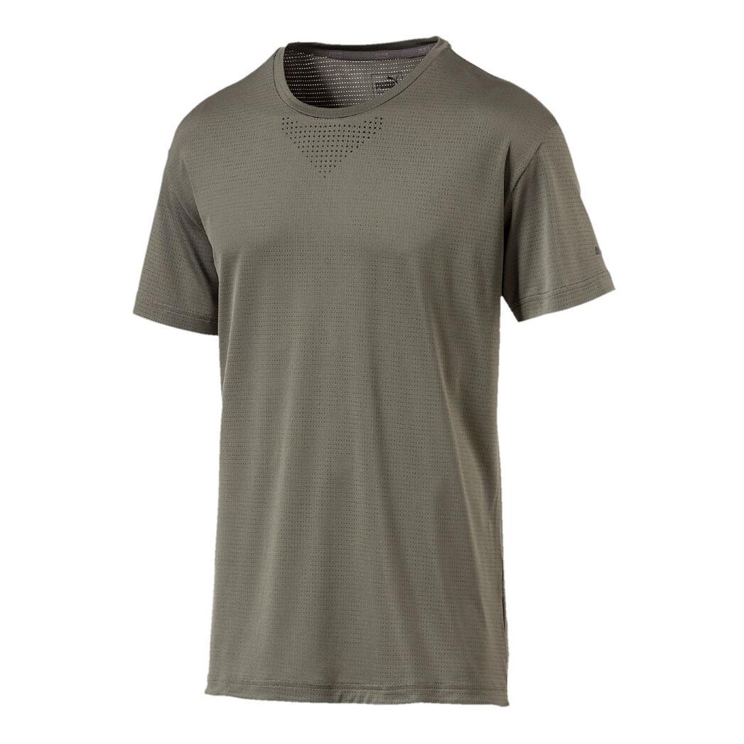 Puma Energy Tech T Shirt Herren Oliv, Schwarz online