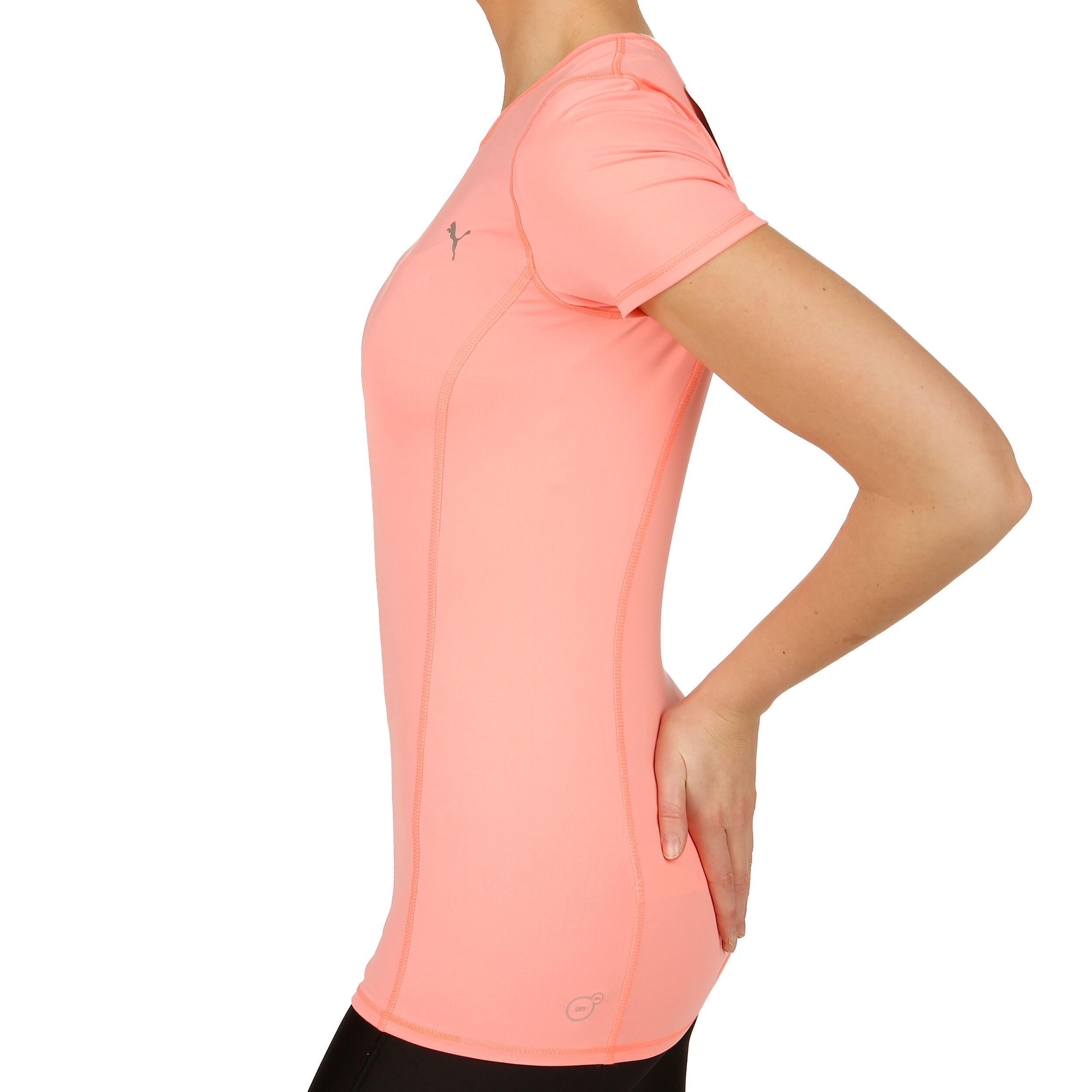 Puma Tennis Bekleidung Essential T Shirt Damen Rosa