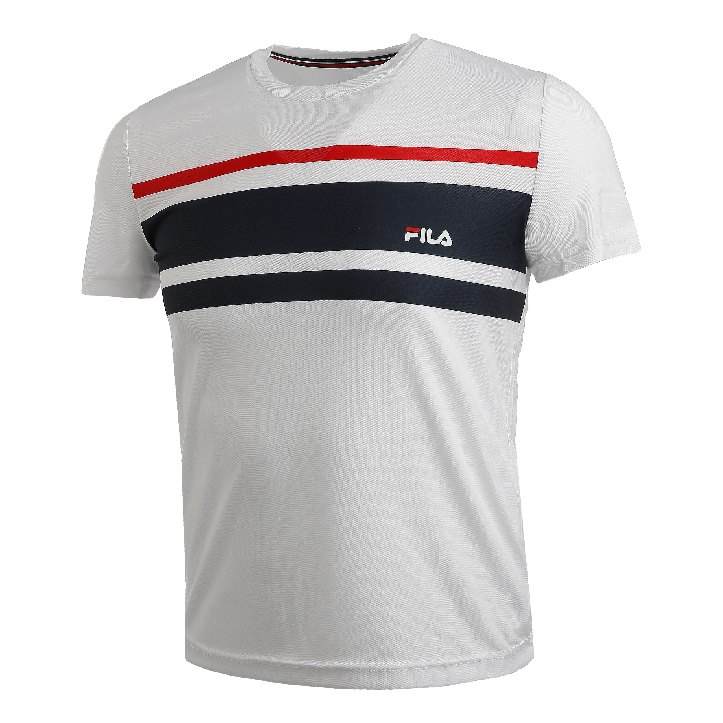 Trey T Shirt Herren Weiß, Dunkelblau