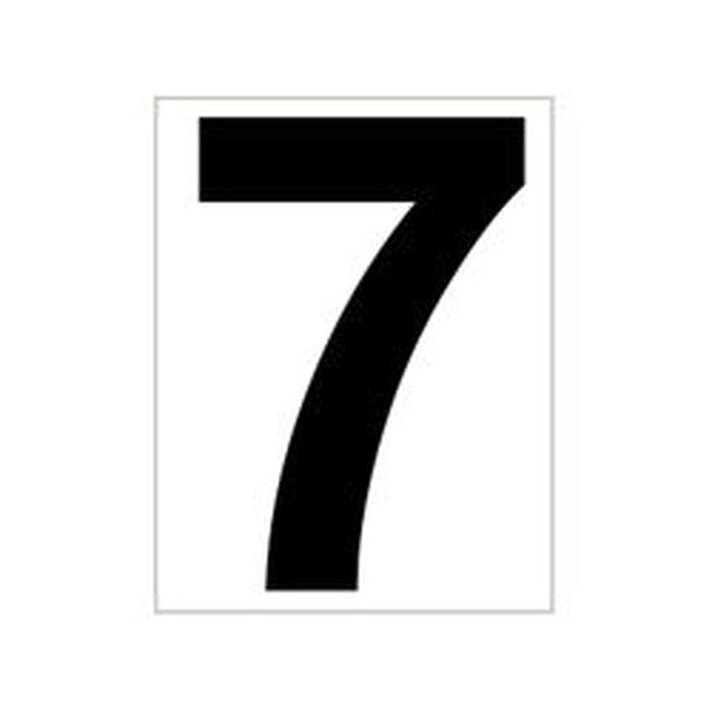 Schild Platzziffer 7