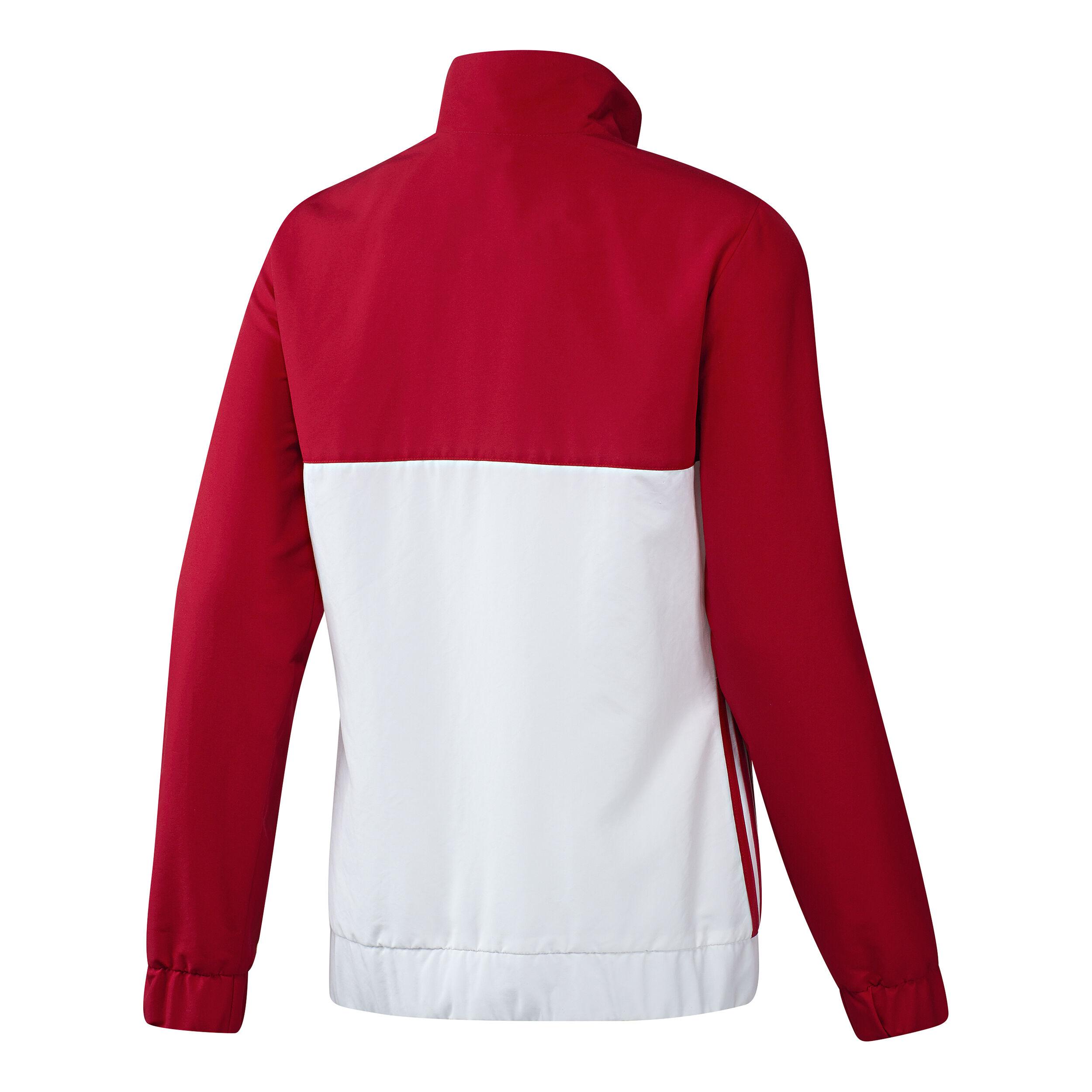 adidas T16 Team Jacket Trainingsjacke Damen Rot, Weiß