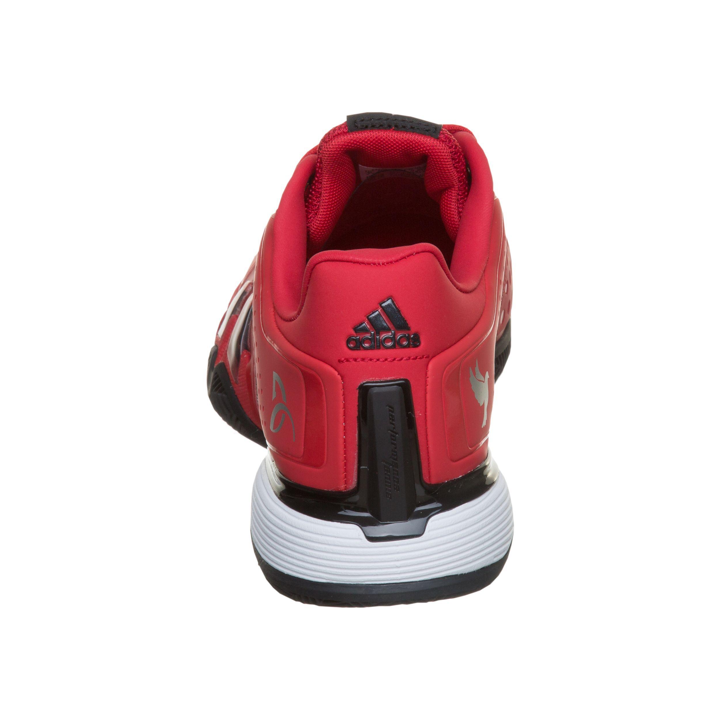 adidas Novak Pro Sandplatzschuh Herren Rot, Schwarz online