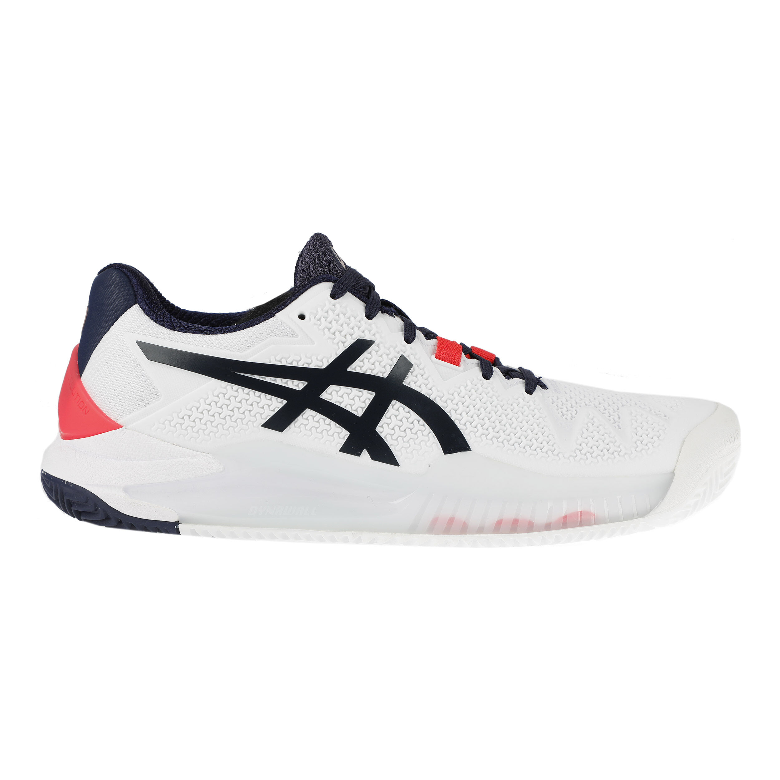 Asics Gel-Resolution 8 Clay Sandplatzschuh Damen - Weiß, Dunkelblau