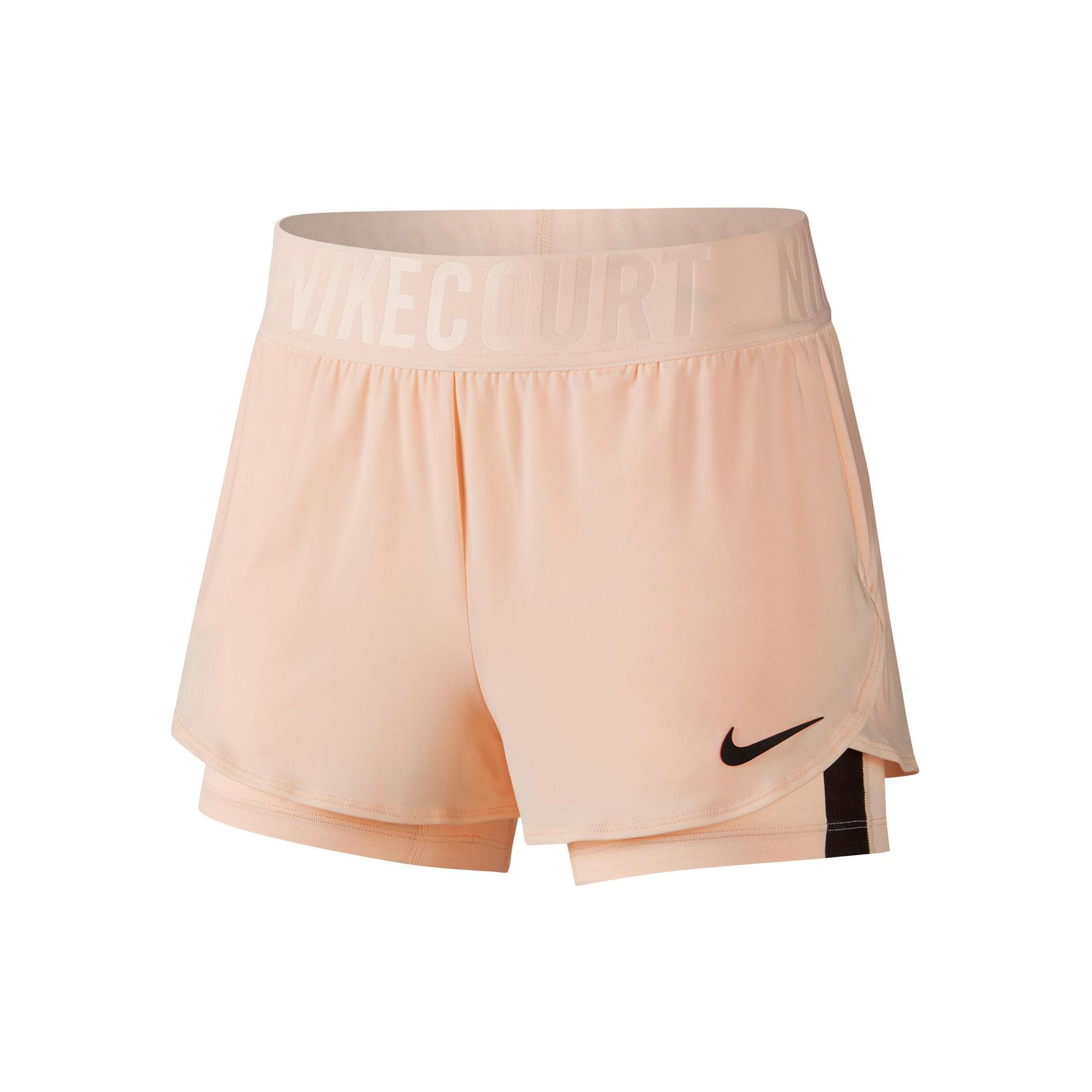 Nike Court Dry Ace Shorts Damen Apricot, Schwarz online