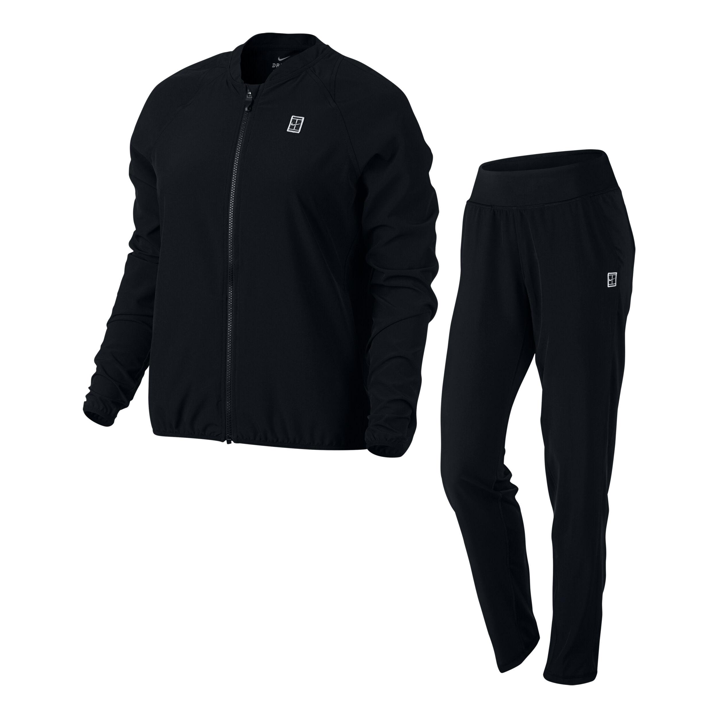 Nike Court Woven Warm Up Trainingsanzug Damen - Schwarz, Weiß online ...