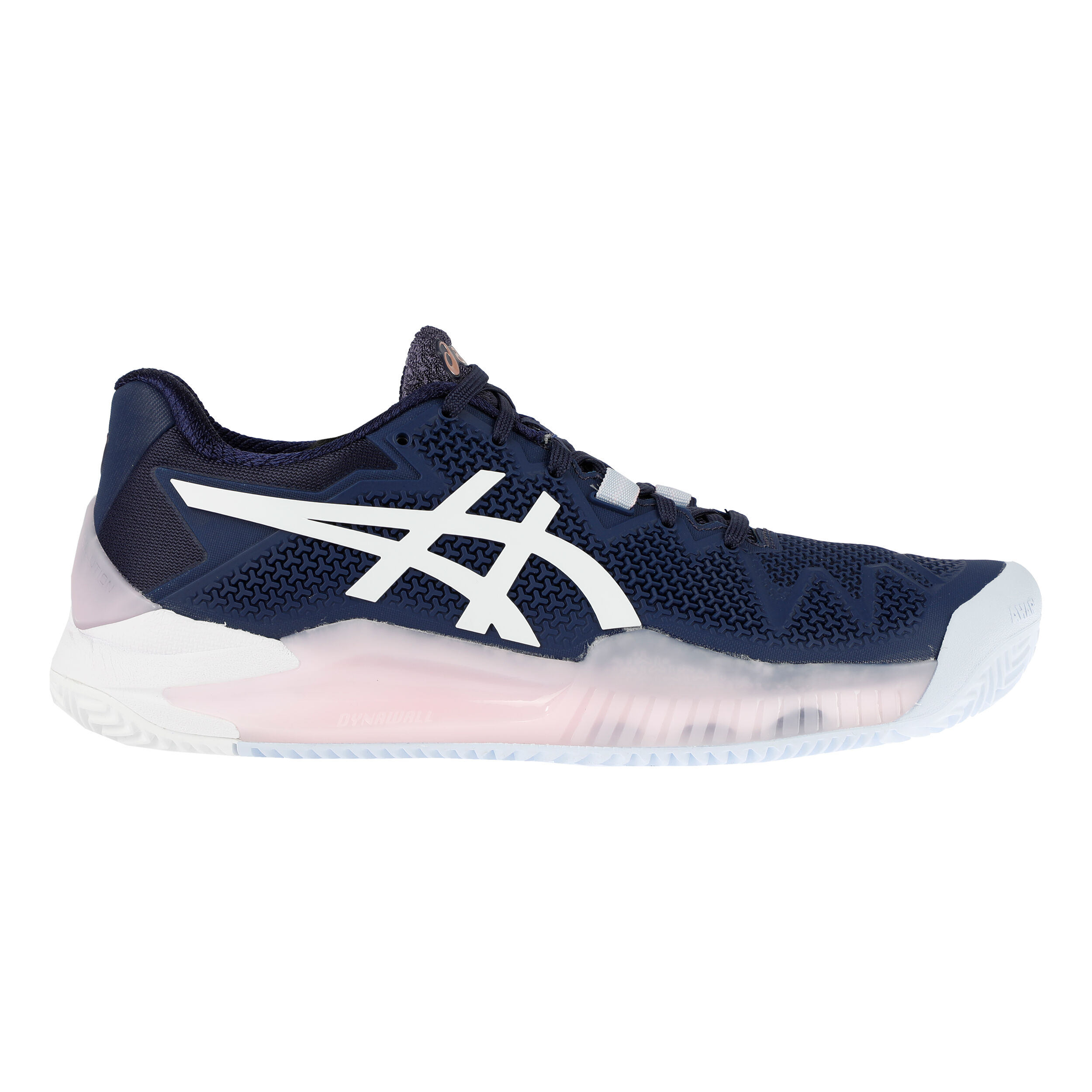 Asics Gel-Resolution 8 Clay Sandplatzschuh Damen - Dunkelblau, Weiß