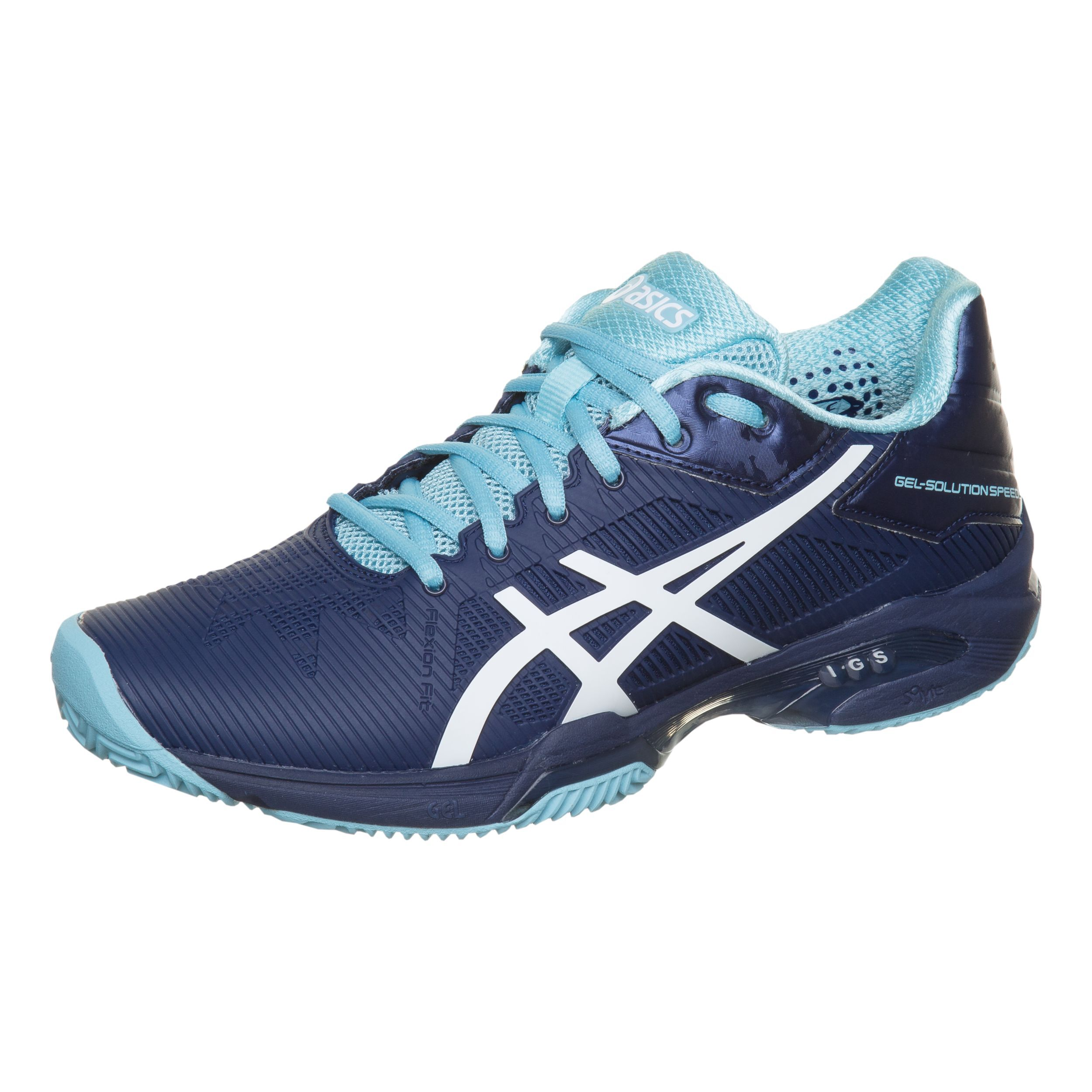 Asics Gel-Solution Speed 3 Clay Sandplatzschuh Damen - Dunkelblau ...