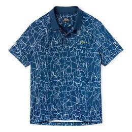 Short Sleeved Ribbed Collar Shirt Men