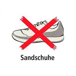 """Schild """"Sandschuhe verboten"""""""