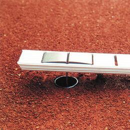 Ideala III 5 cm breit, weiß, mit Bodenanker in L-Form